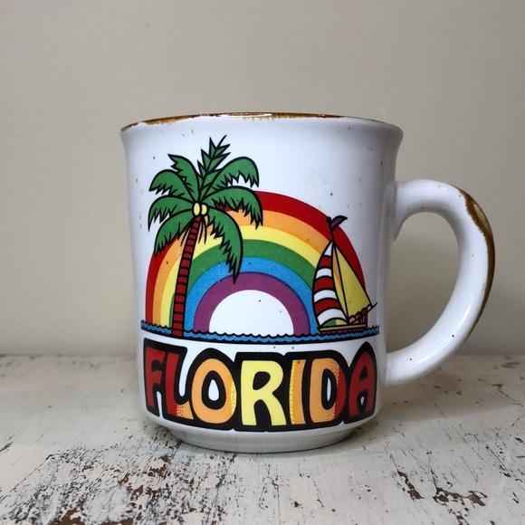 Stoneware Rainbow Florida Coffee Mug